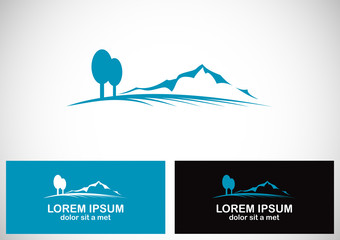 mountain tree landscape logo