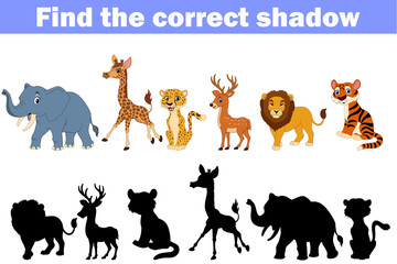 Find the correct shadow africa animals