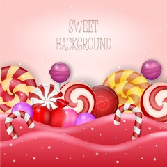 Abstract background with sweet candy