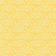 yellow hand drawn seamless pattern