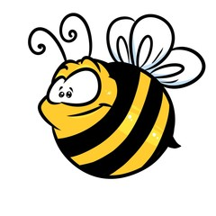 Insect bee cartoon illustration isolated image character