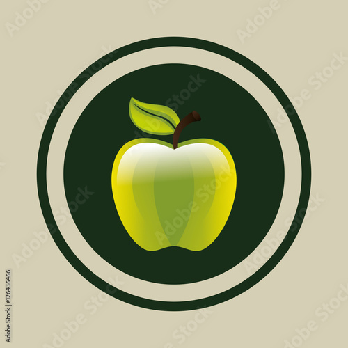 delicious green apple illustration - photo #18