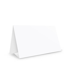 Blank white paper stand holder