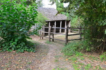 A small Corral at a cabin in America.