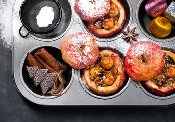 Christmas baked apples