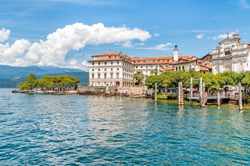 Bella Island or Isola Bella with Renaissance palace on Maggiore lake, Stresa, Italy