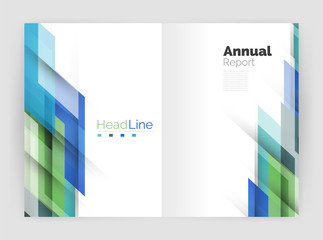 Motion concept. Business annual report cover templates