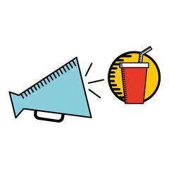 megaphone icon cinema movie icon vector illustration eps 10