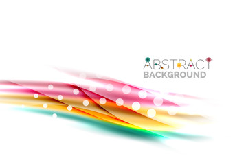 Shiny color lines on white background - motion