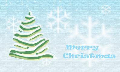 Christmas card aqua