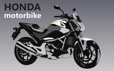 Honda motorbike vector