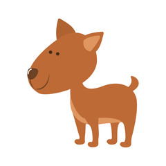 pet dog icon image vector illustration design