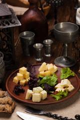 Сheese plate, parmesan, Dor Blue, Camembert