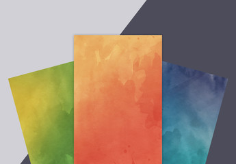 Four Watercolor Texture Patterns