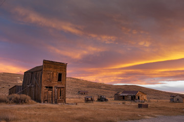 Sunset, Ghost Town of Bodie Wall mural