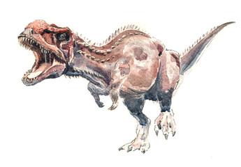 Динозавр. Майюнгазавр акварель