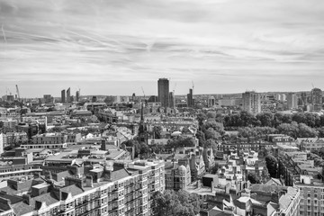 Panoramic views of London from above