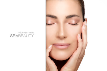 Natural young woman face. Spa Beauty Concept