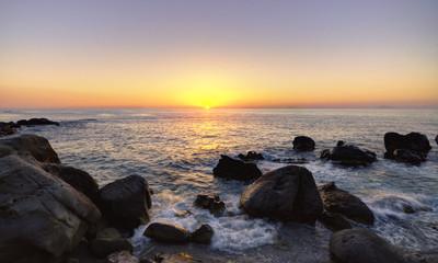 Serene atmosphere at sunset