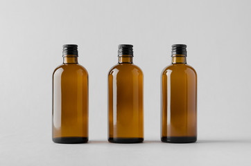 Pharmaceutical Bottle Mock-Up - Three Bottles