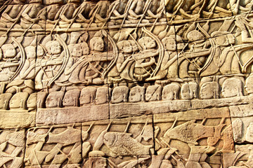 Sea battle between the Cham and Khmer