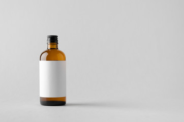 Pharmaceutical Bottle Mock-Up - Blank Label