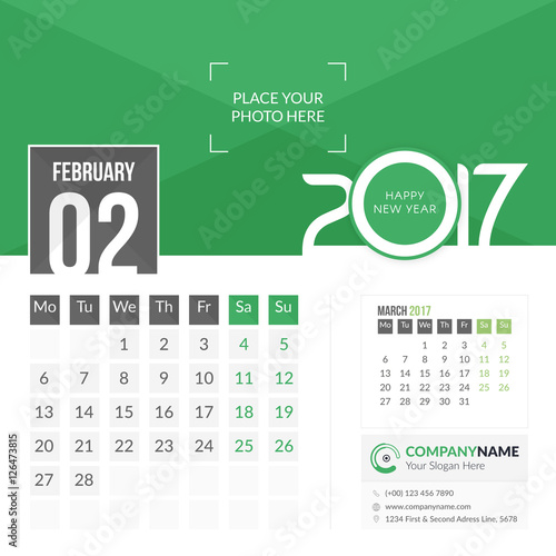 Calendar Ideas Corporate : Quot february calendar for year months on page