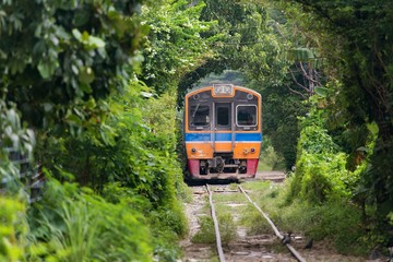 Old train in Thailand