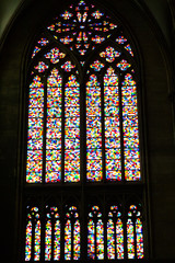 The stained glass window in Koln cathedral, Germany