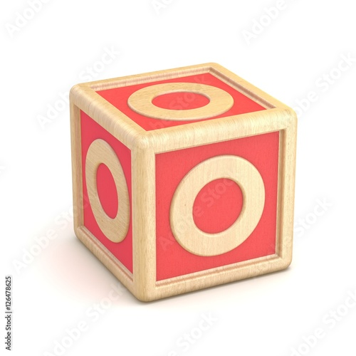 Letter o wooden alphabet blocks font rotated 3d stock for 3d wooden alphabet letters