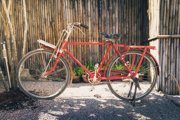 Red Japanese style bicycle