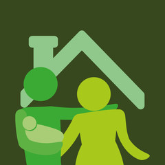 family home relationship icon vector illustration graphic design