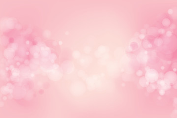 Vector abstract pink light bokeh background.