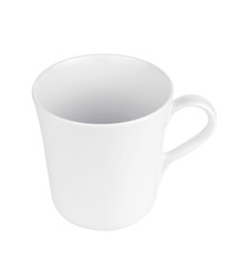 White Mug isolated on white background.