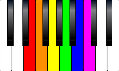 Trans Gay Piano Keys