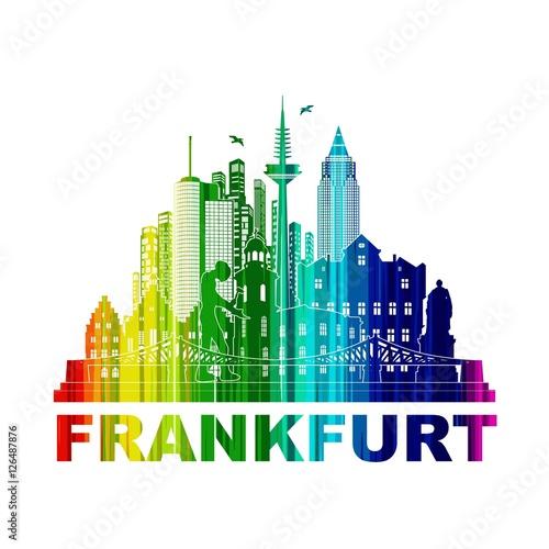 frankfurt skyline sehensw rdigkeiten umriss silhouette. Black Bedroom Furniture Sets. Home Design Ideas