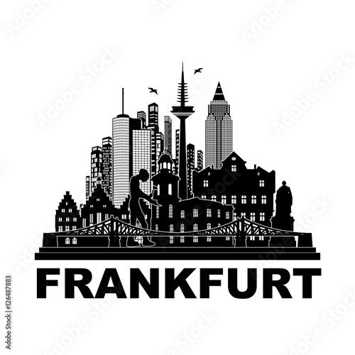 Frankfurt Skyline Silhouette