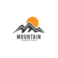 Creative Mountain Concept Logo Design Template
