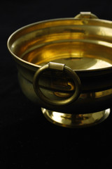 Brass bowl with handles