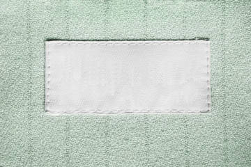 Blank clothes label