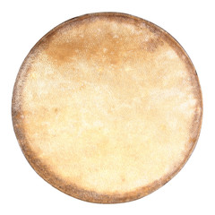 Drum leather isolated on white background. Drum head isolated