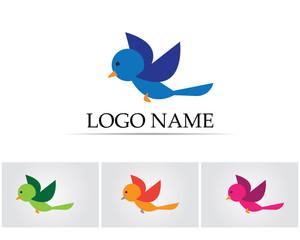 Bird cartoon logo for children