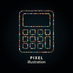 Calculator - pixel illustration.