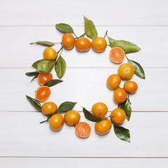 Wreath of mandarins (tangerines)