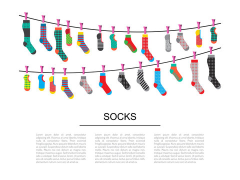 set colorful socks