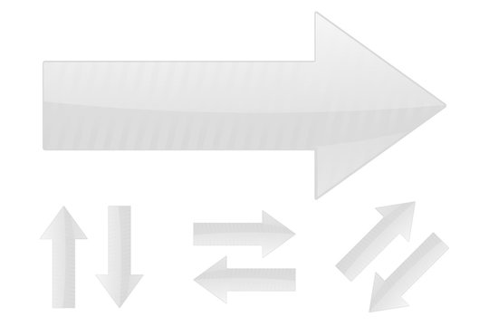 Arrows. Set of white web signs