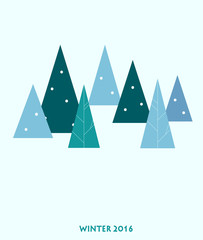 christmas tree over blue background. vector illustration