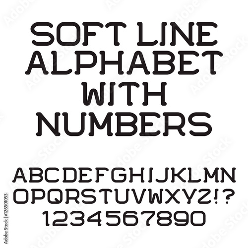 Black White Strip Letters And Numbers Double Line Flat Font Isolated English Alphabet With Figures Stock Image Royalty Free Vector Files On