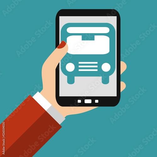 """Verhüten Mit Dem Smartphone: """"Bus Suchen Und Buchen Mit Dem Smartphone"""" Stockfotos Und"""