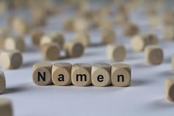 Namen - Holzwürfel mit Buchstaben